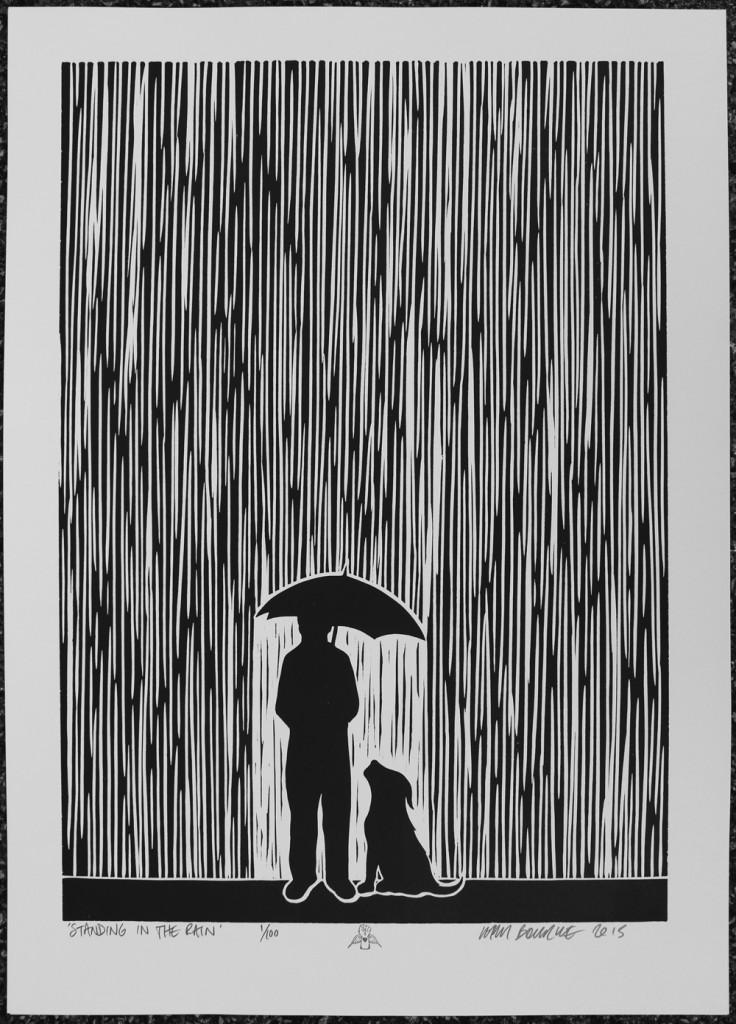 Small Dog Print Umbrella